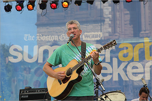 Ben Rudnick and Friends were one of the bands performing on the Saturday morning stage.