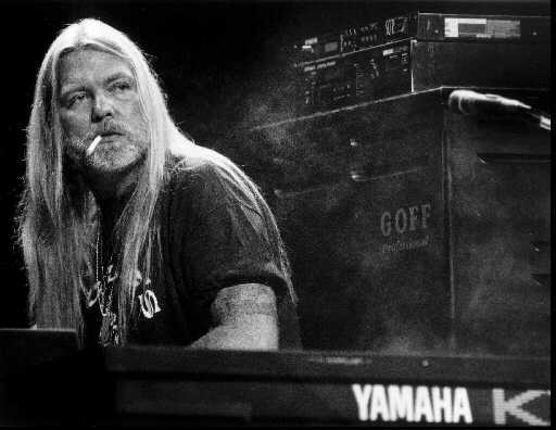 Greg Allman performing at the Great Woods Center for the Performing Arts with The Allman Brothers Band.