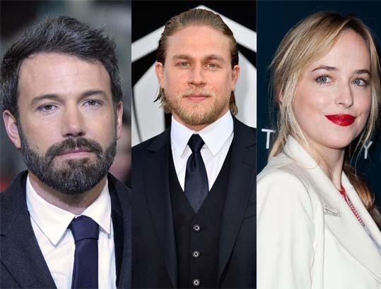 Ben Affleck, Charlie Hunnam, Dakota Johnson