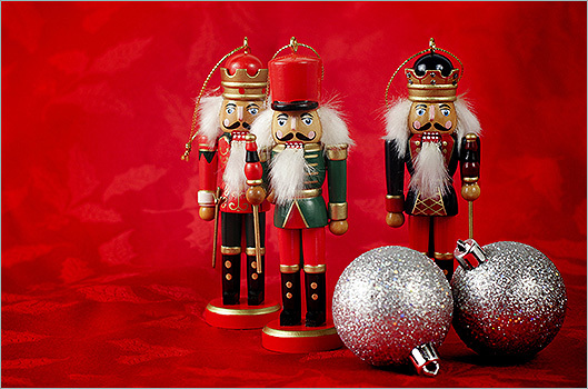 During The Nutcracker , Drosselmeyer offers Clara and Fritz a very special gift: a nutcracker. Clara quickly becomes smitten with this special present. Click through this gallery to see how much you know about the history of Clara's favorite holiday present.