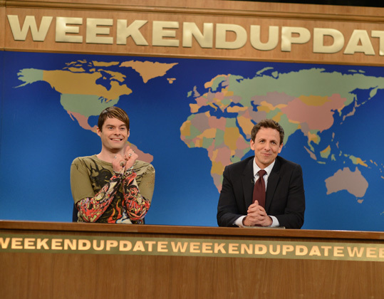 Stefon played by Bill Hader and Seth Myers