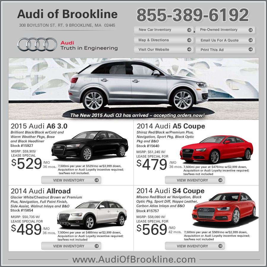 audi lease deals | audi of brookline