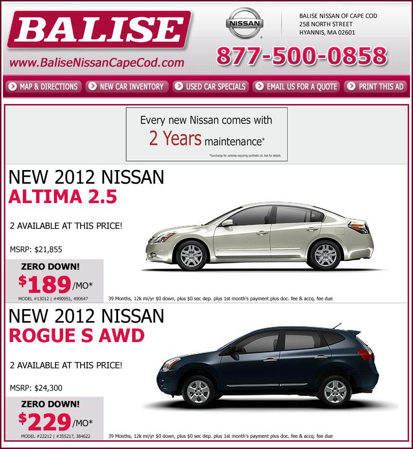 Balise Nissan Of Cape Cod Online On Boston.com