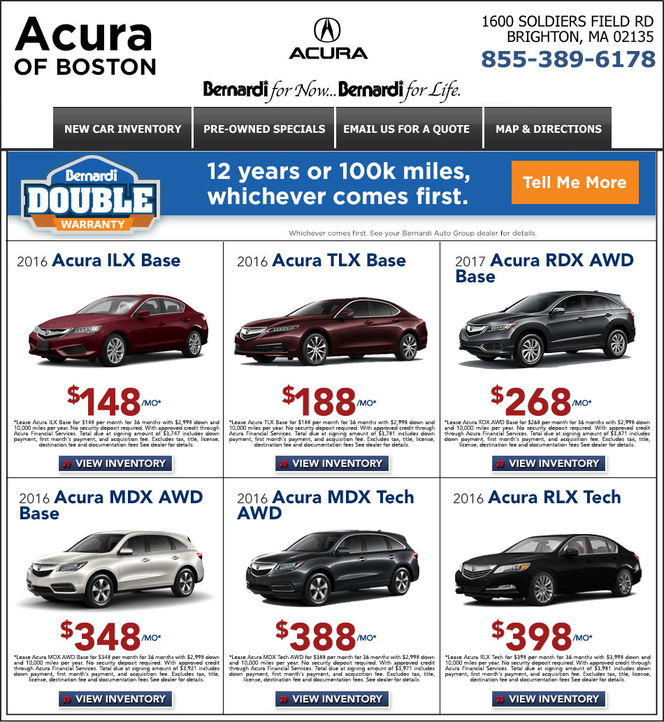 Acura New Car Deals at Acura of Boston. Shop, Lease, Buy