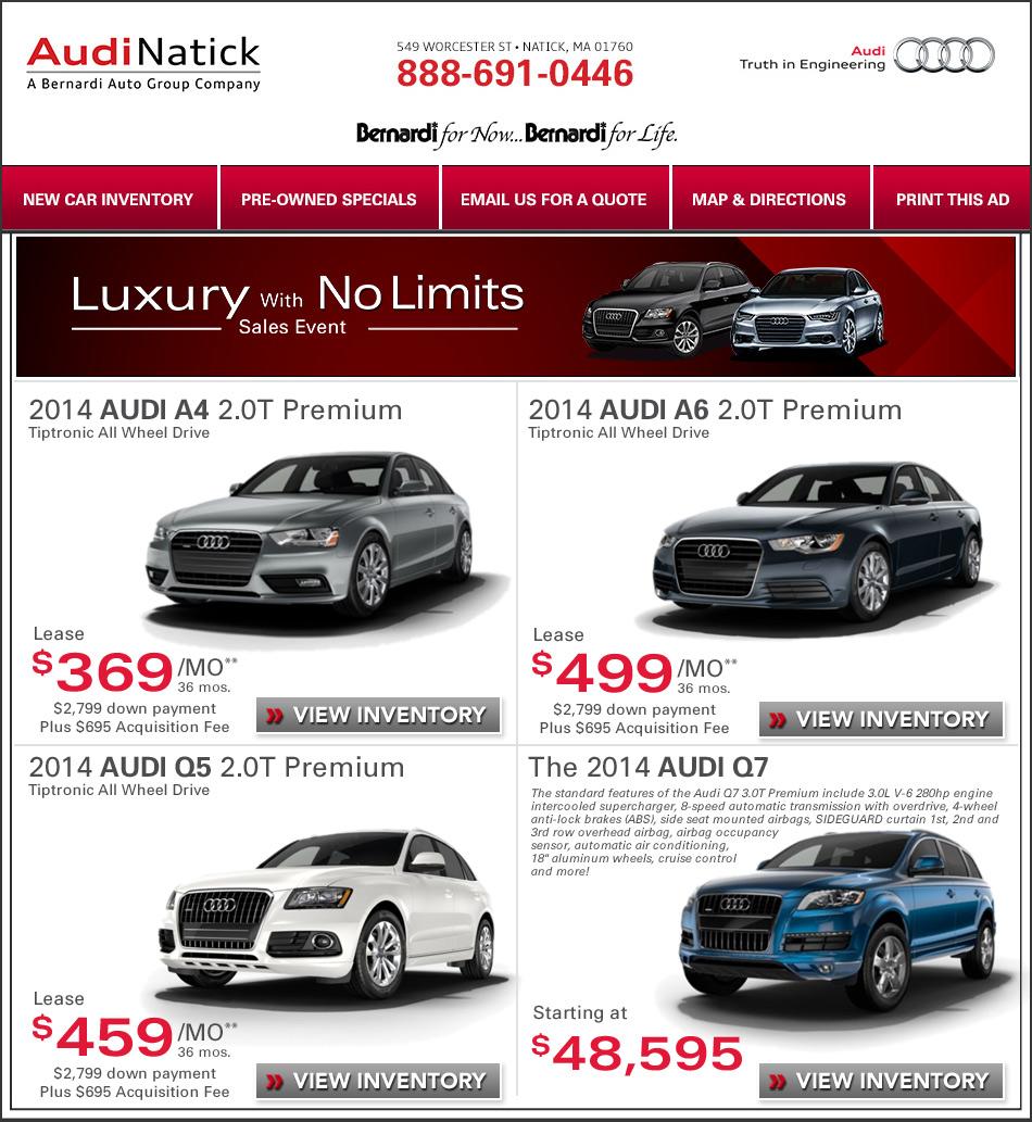Boston Audi Deals