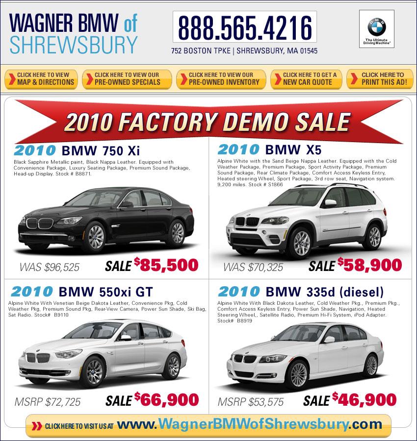 Wagner Bmw Of Shrewsbury New Car Deals