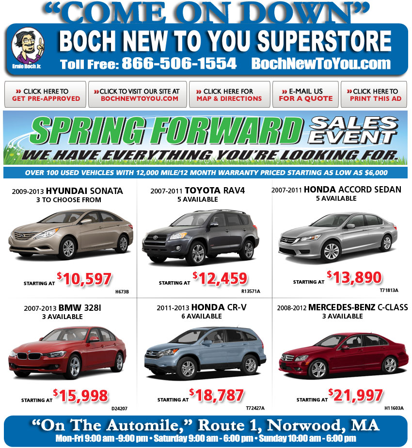 Boch New To You >> Boch New To You On Boston Com Used Car Deals Online