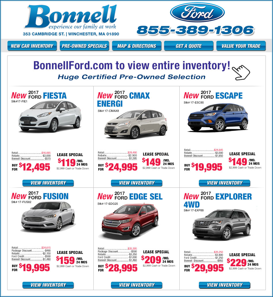 Ford Dealers Ma >> Boston Ford Dealers - Bonnell Ford in Winchester, MA