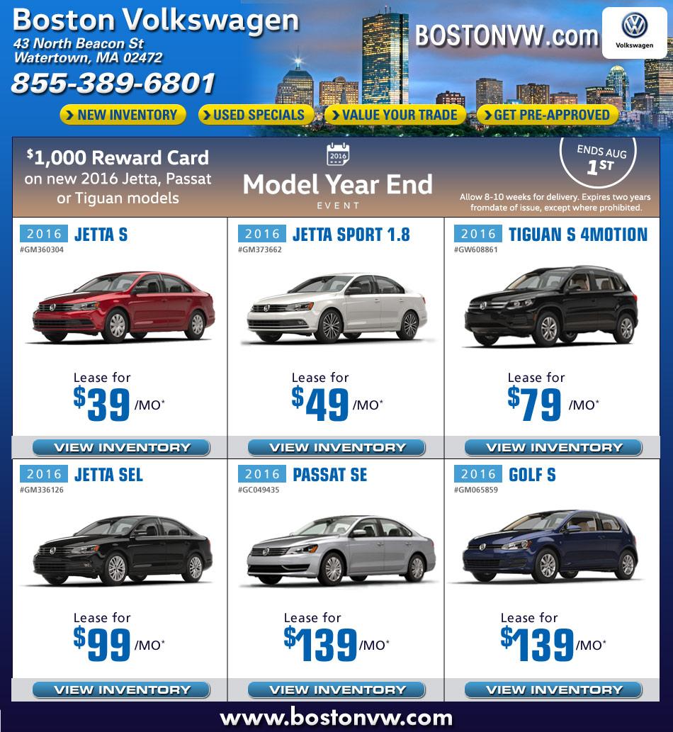 Boston Vw Dealers In Watertown Ma Boston Volkswagen Car Deals