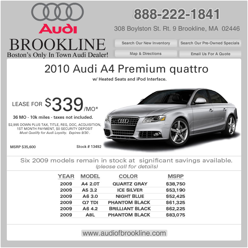 Audi Of Brookline Boston Audi Dealer New Car Deals