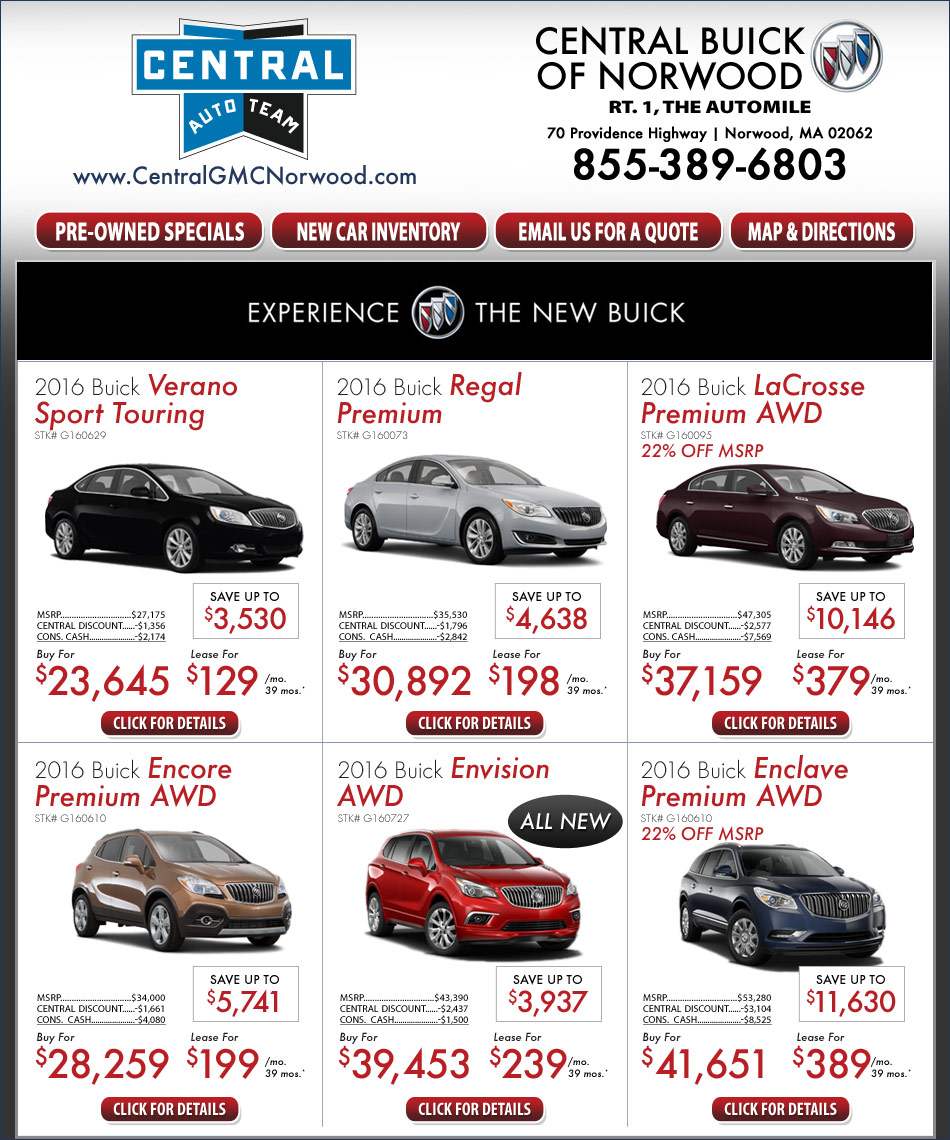 Joseph Buick Gmc Lease Offers: Central Buick On The Automile In Norwood, MA Boston New