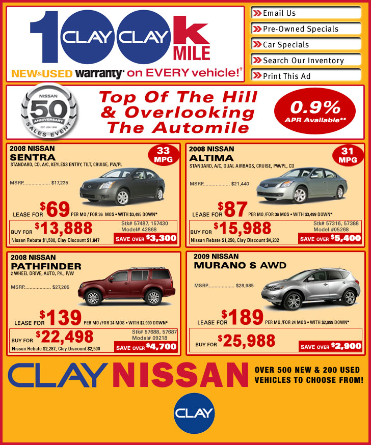 Nissan Leases Clay Nissan New Car Deals