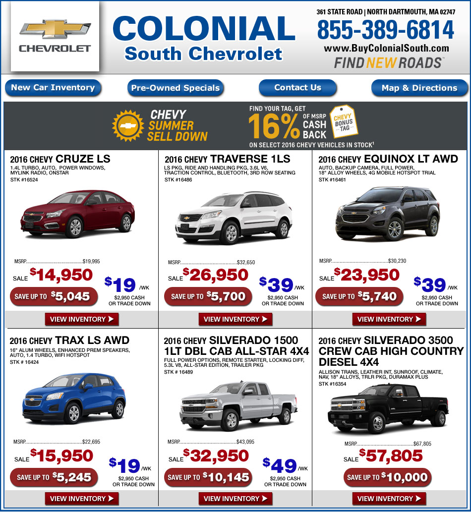 colonial chevrolet south new car offers online south coast chevy. Cars Review. Best American Auto & Cars Review