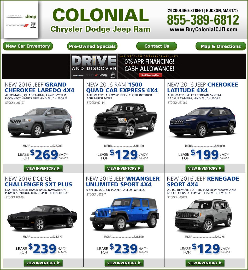 colonial chrysler jeep dodge new car deals. Black Bedroom Furniture Sets. Home Design Ideas