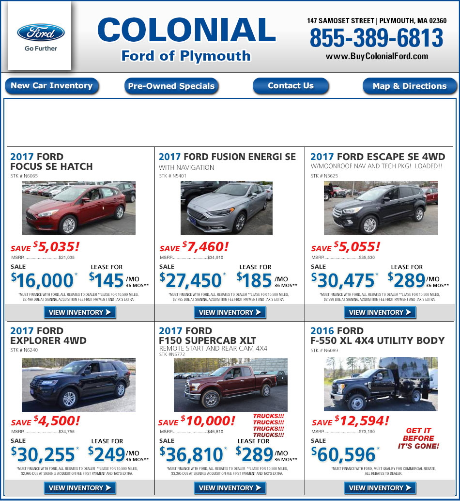 Colonial South Chevrolet >> Boston.com: Ford Dealerships - Colonial Ford South of Boston