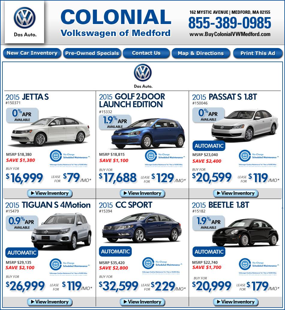 Colonial Volkswagen Medford   2017, 2018, 2019 Volkswagen ...