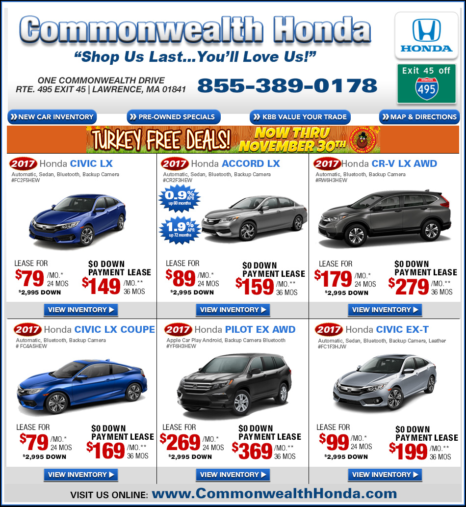 Ma honda dealers deals from commonwealth honda lawrence ma Commonwealth motors used cars