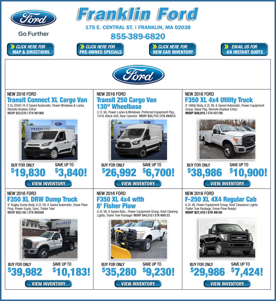 Ford Dealers Ma >> Boston Ford Dealers - Franklin Ford Truck Specials in Franklin, MA