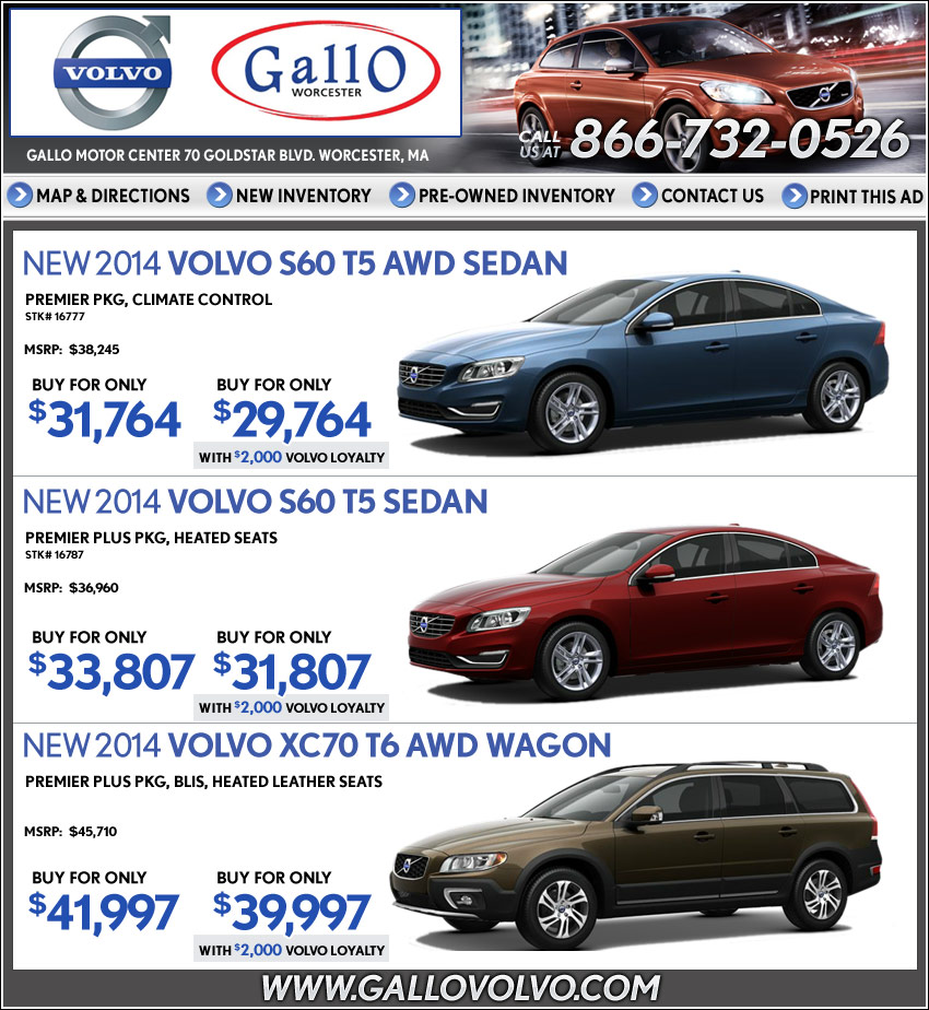 Shop Worcester S Gallo Volvo New Car Deals On Boston Com