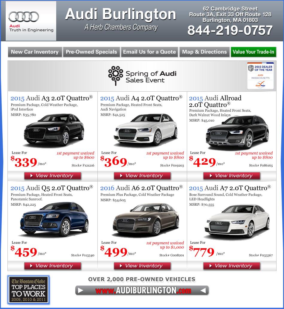 Audi Burlington - A Herb Chambers Company