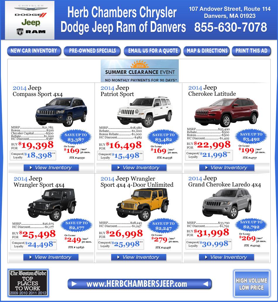 Herb Chambers Chevrolet Buick Pontiac: Herb Chambers Chrysler Jeep Dodge Of Danvers