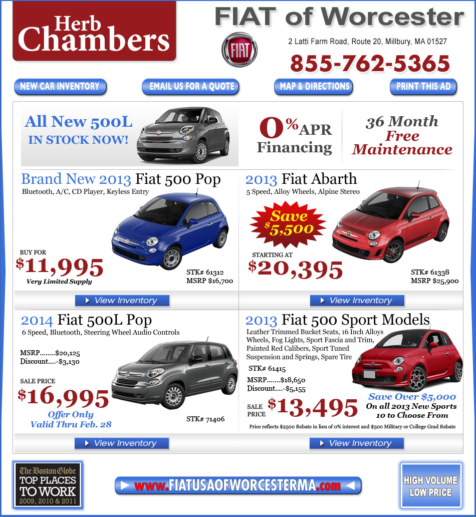 Herb Chambers Fiat Of Worcester