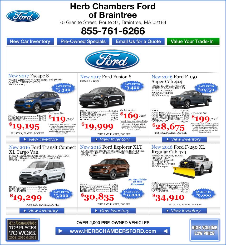 Braintree Ford Car Dealers