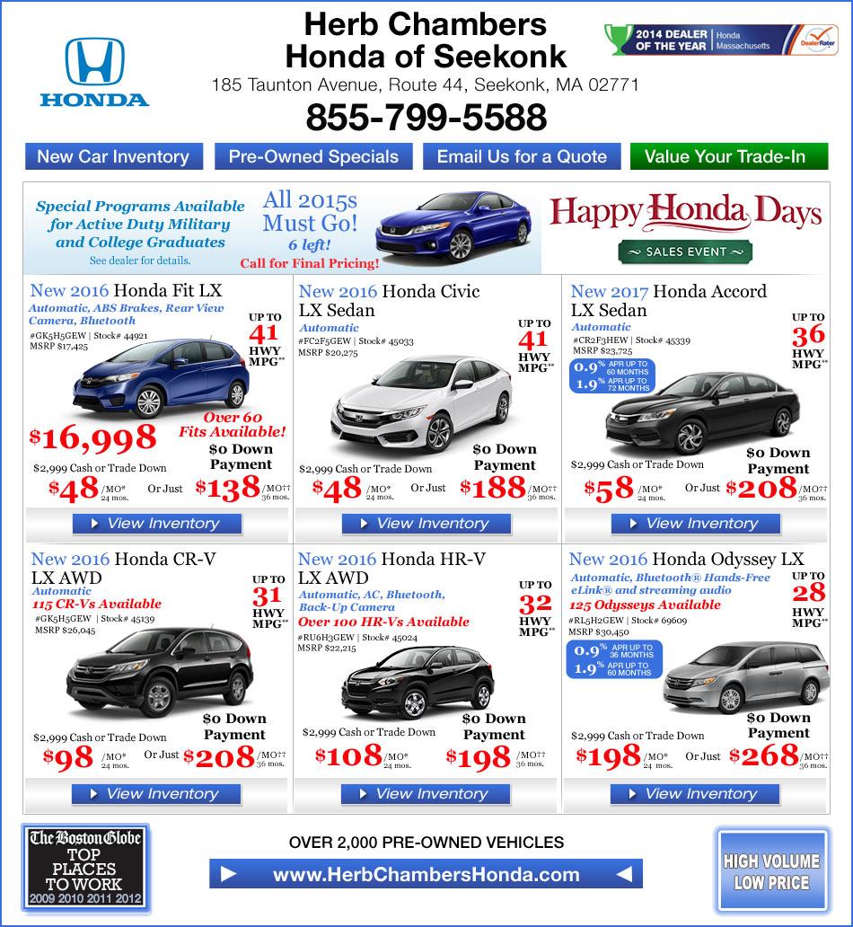 Honda Dealers In Ri: Herb Chambers Honda Of Seekonk