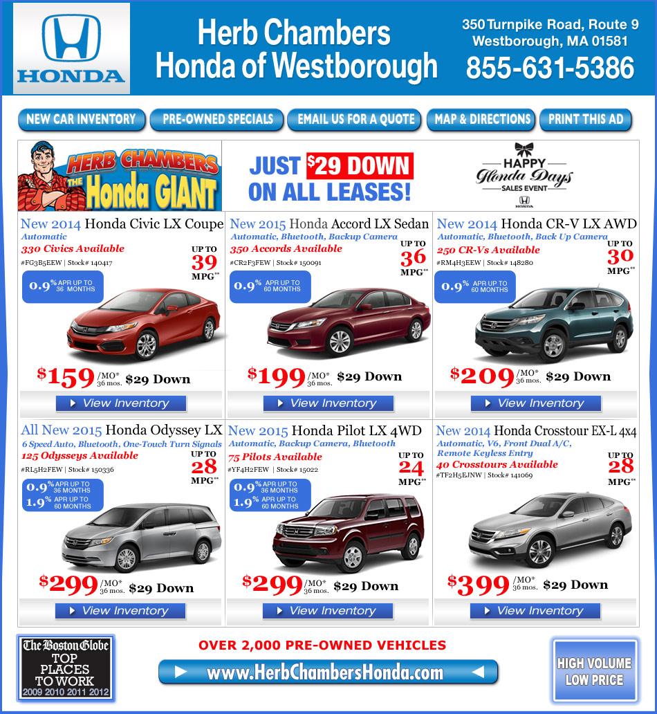 Herb Chambers Honda Of Westborough