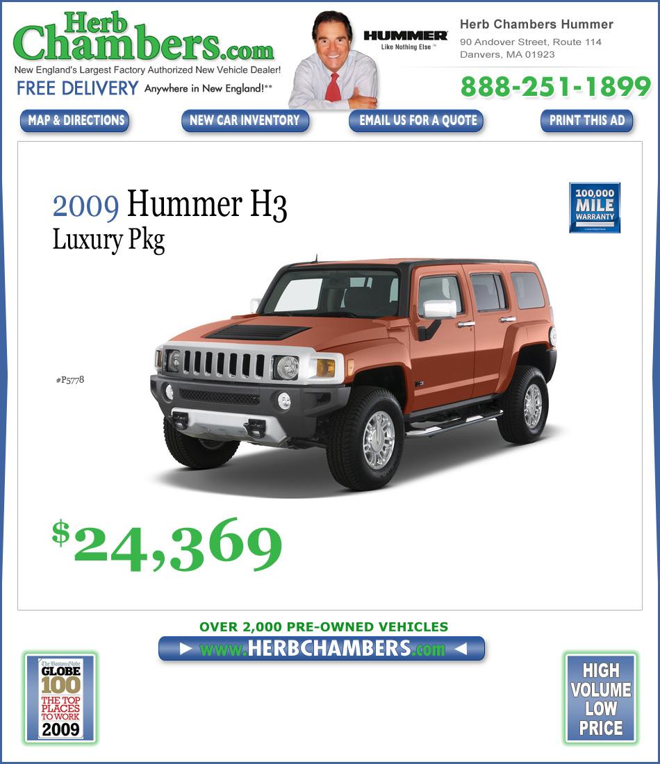 Herb Chambers Hummer Hummer Dealers Boston