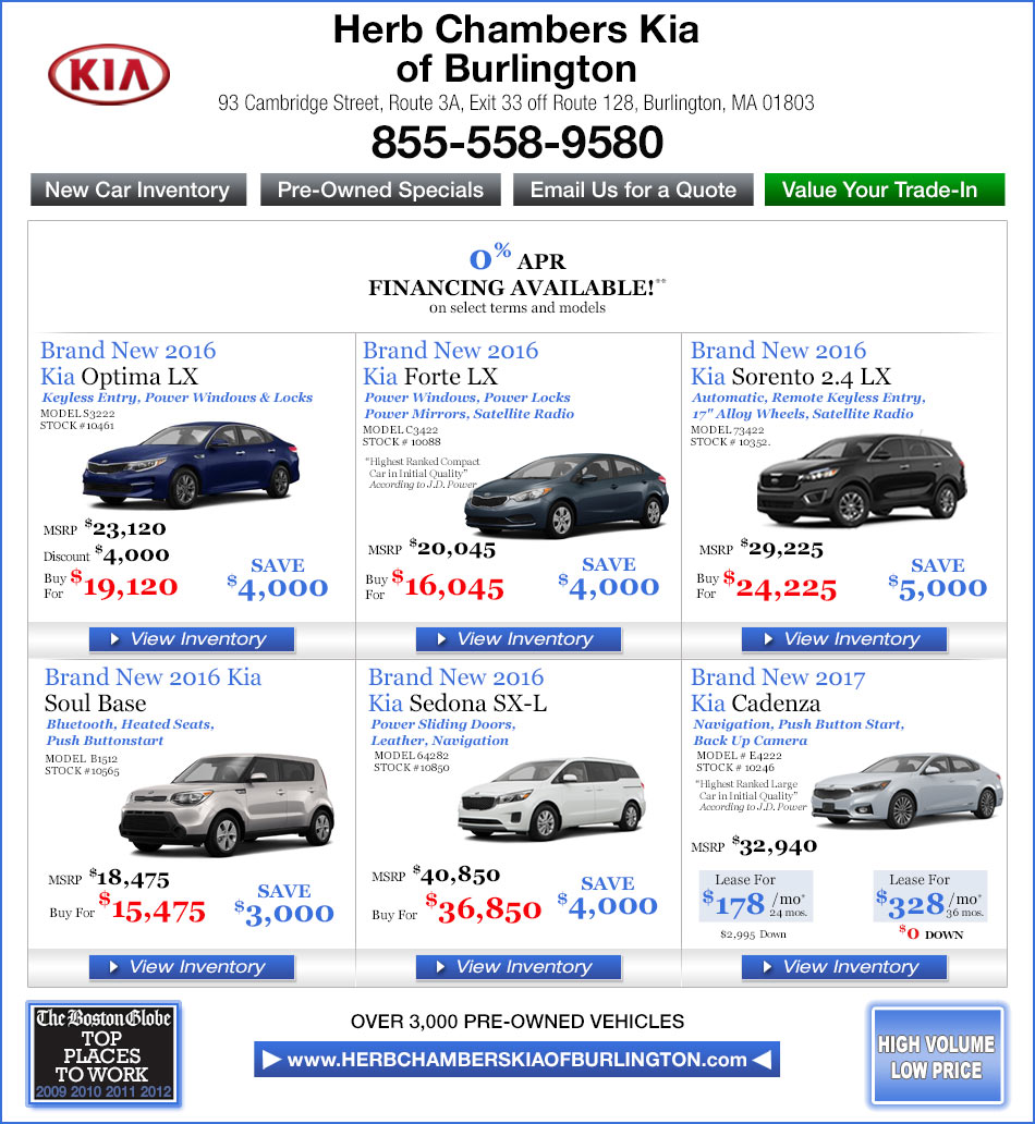 Herb Chambers Westborough >> Used Car Inventory In Burlington Ma Herb Chambers Kia | Autos Post