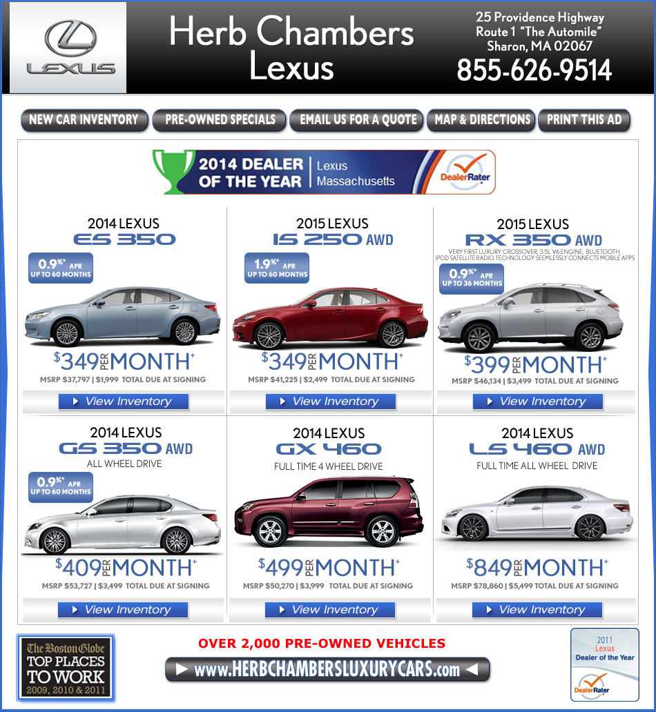 Boston Lexus Dealers Automile Norwood