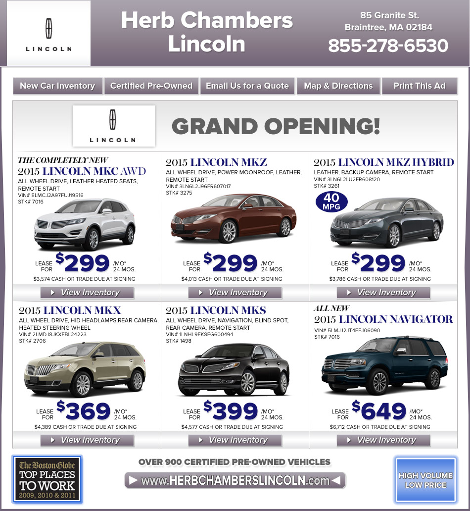 Boston Lincoln Dealers South Shore