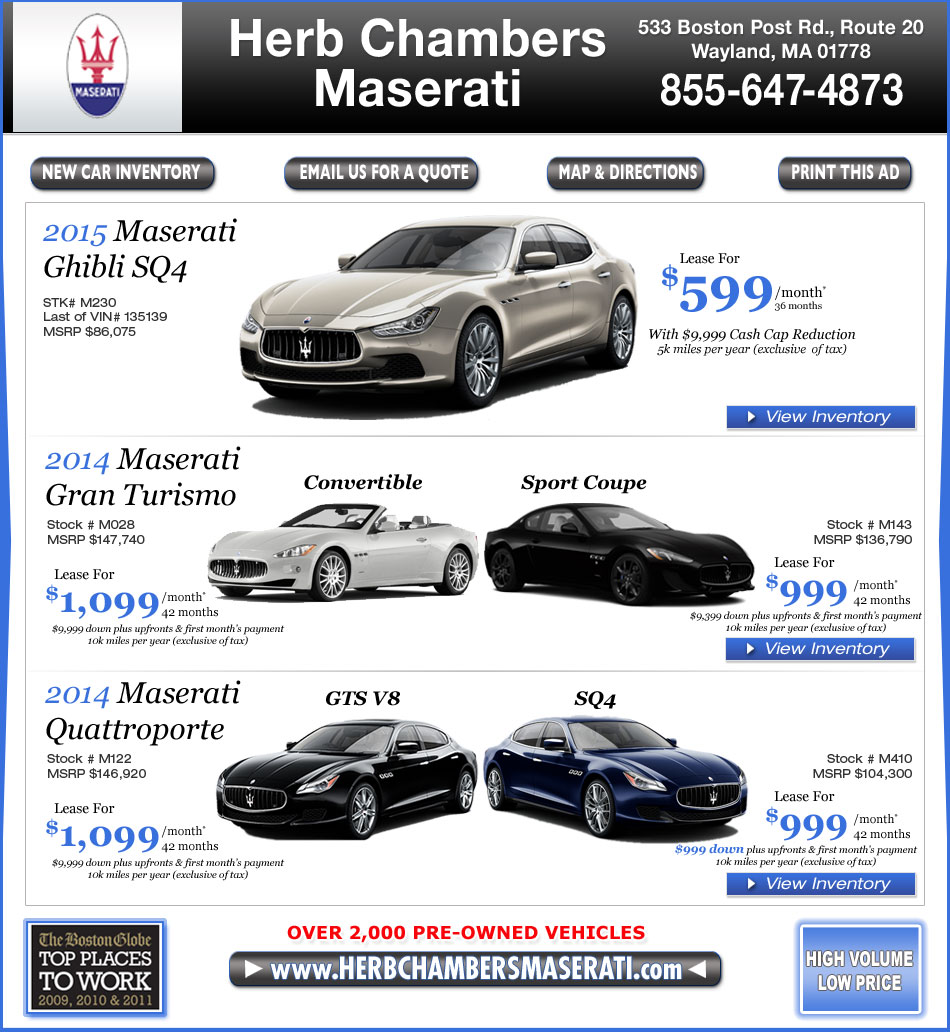 Boston MA Maserati Dealers