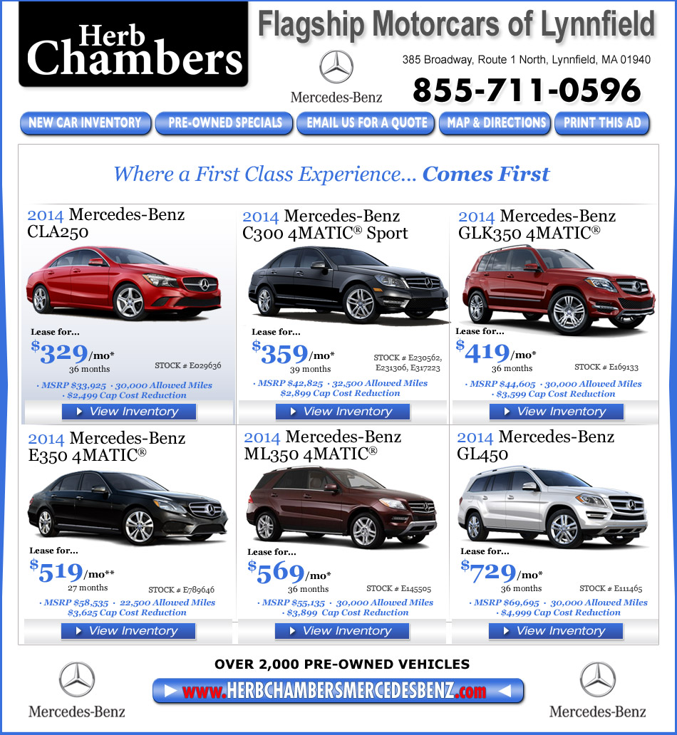 Flagship motorcars of lynnfield a herb chambers company for Mercedes benz herb chambers