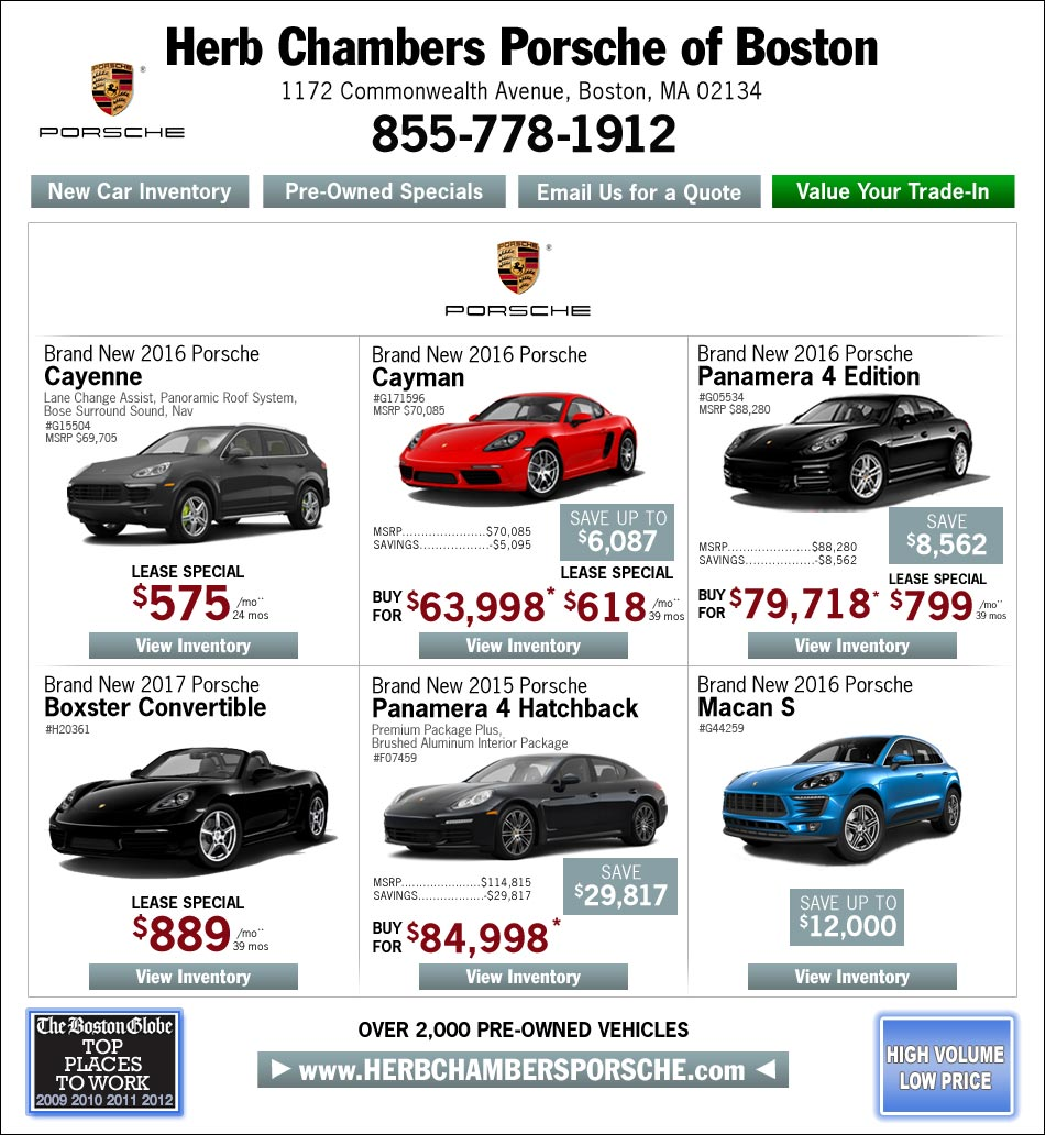 Porsche Dealers Boston