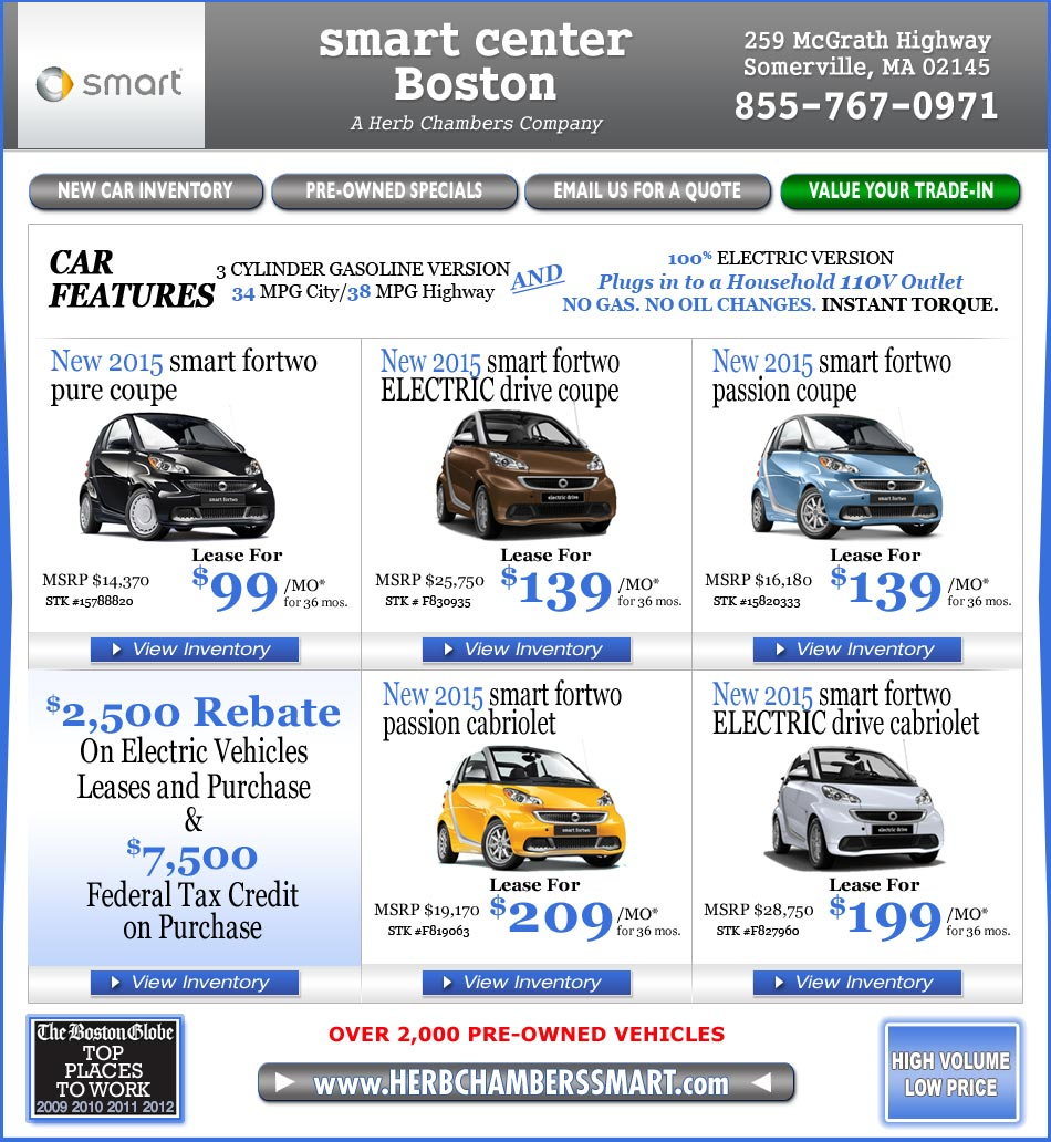 Smart Center Boston A Herb Chambers Company Boston Smart Car Dealers
