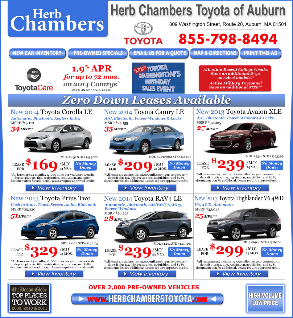 Toyota Dealerships Ma: Herb Chambers Toyota Of Auburn