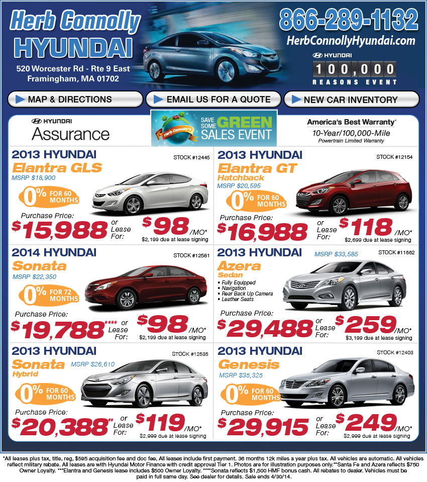 New Hyundai Lease/Buy Herb Connolly Acura In Framingham