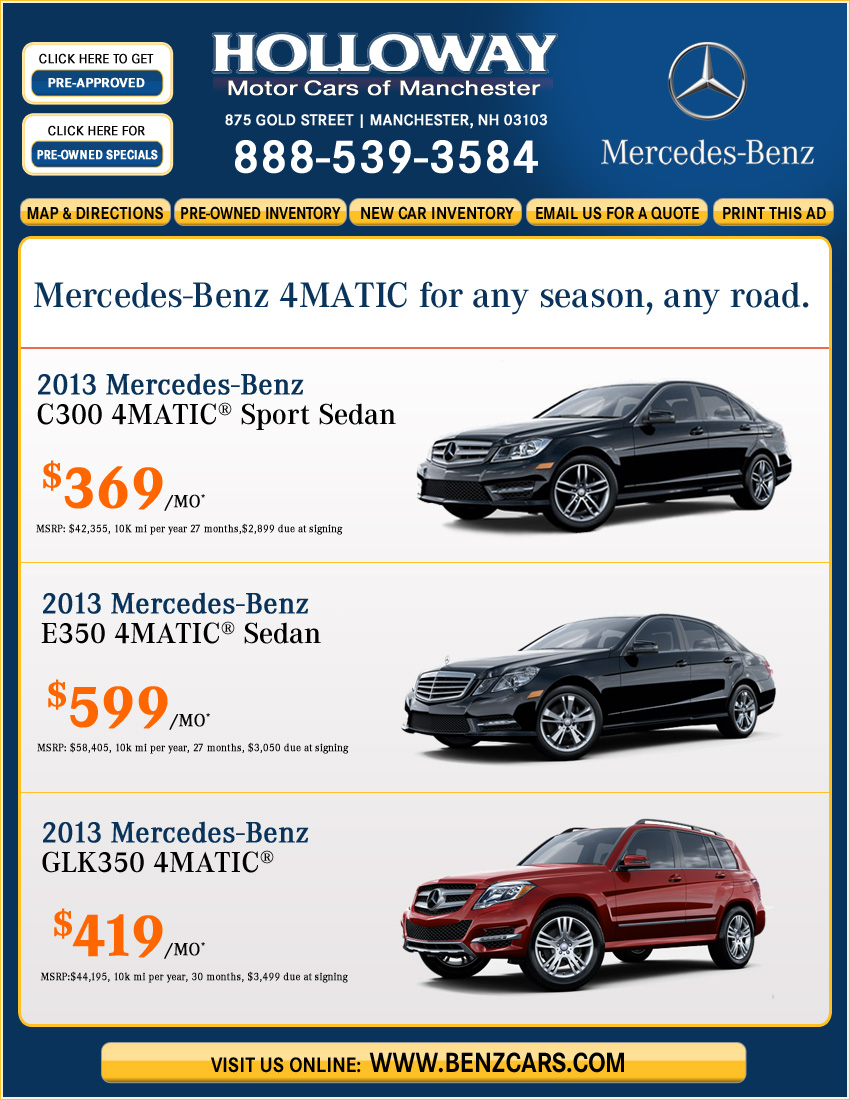 Holloway Mercedes Benz Manchester Nh New Car Deals