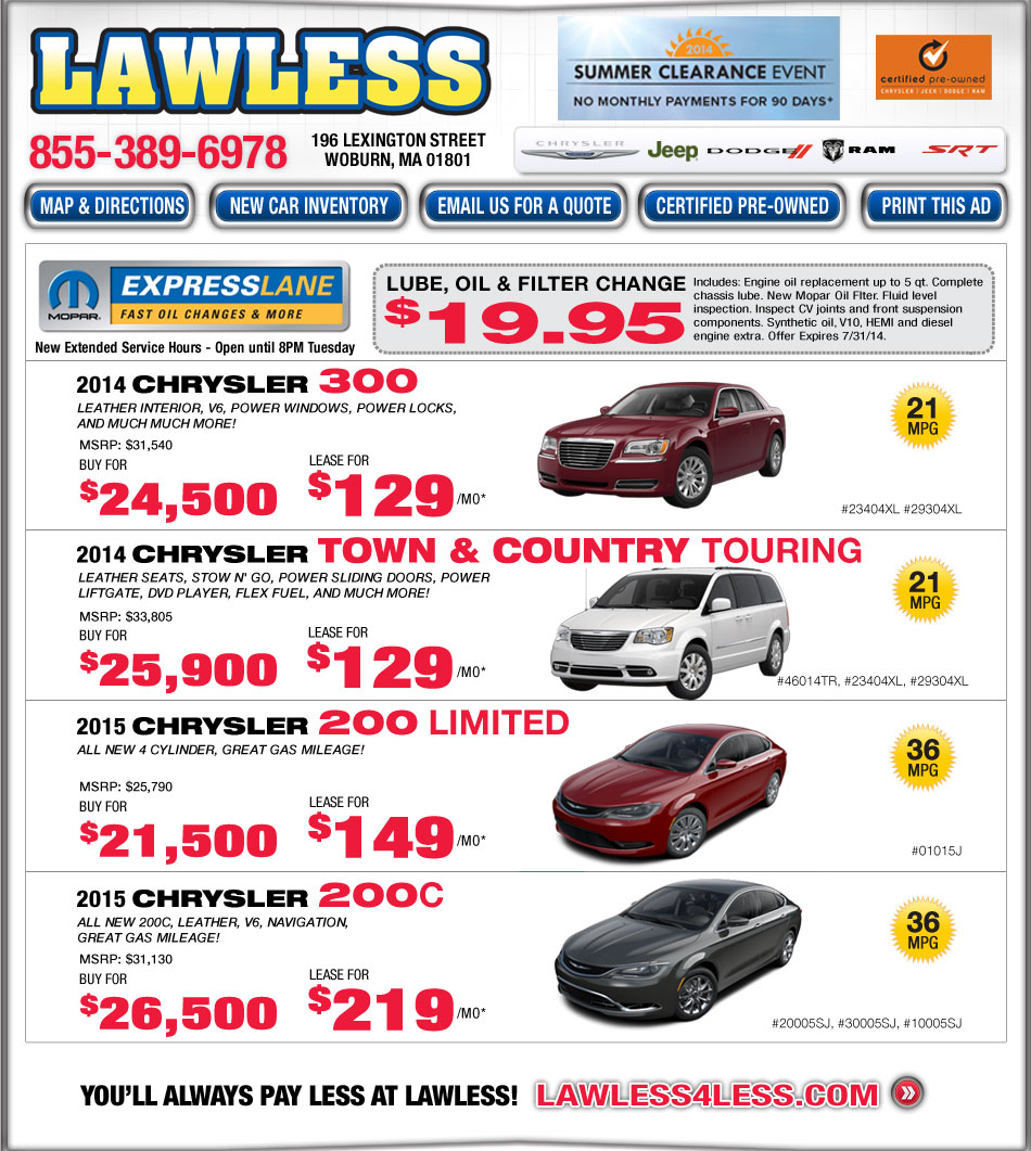 Boston.com: Lawless Chrysler