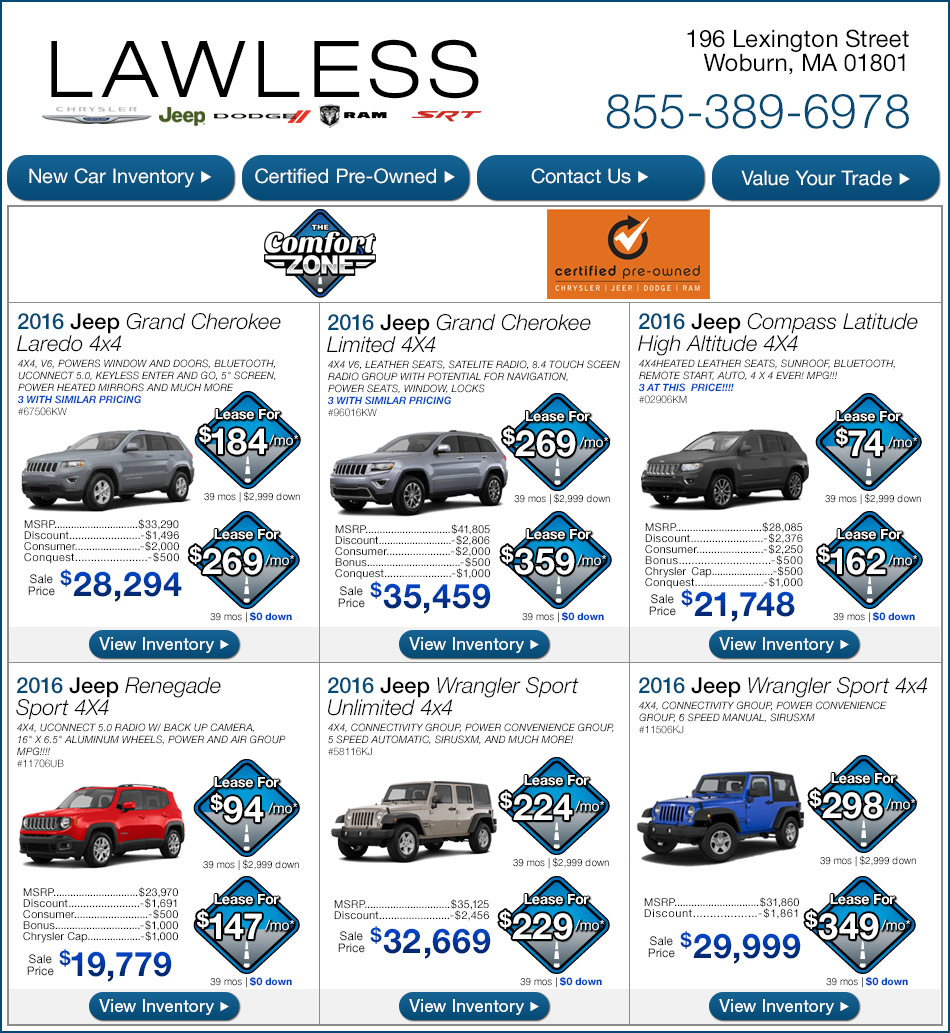 Lawless Jeep New Car Specials