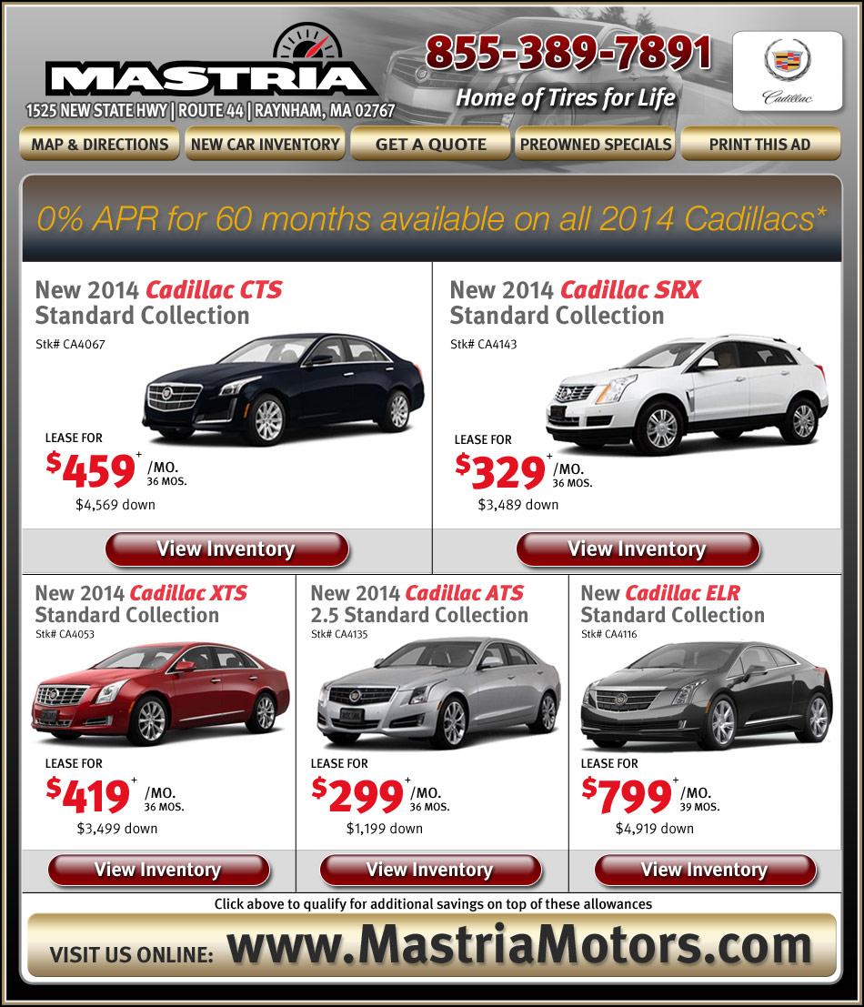 Boston.com Shop Mastria Cadillac New Car Offers Online