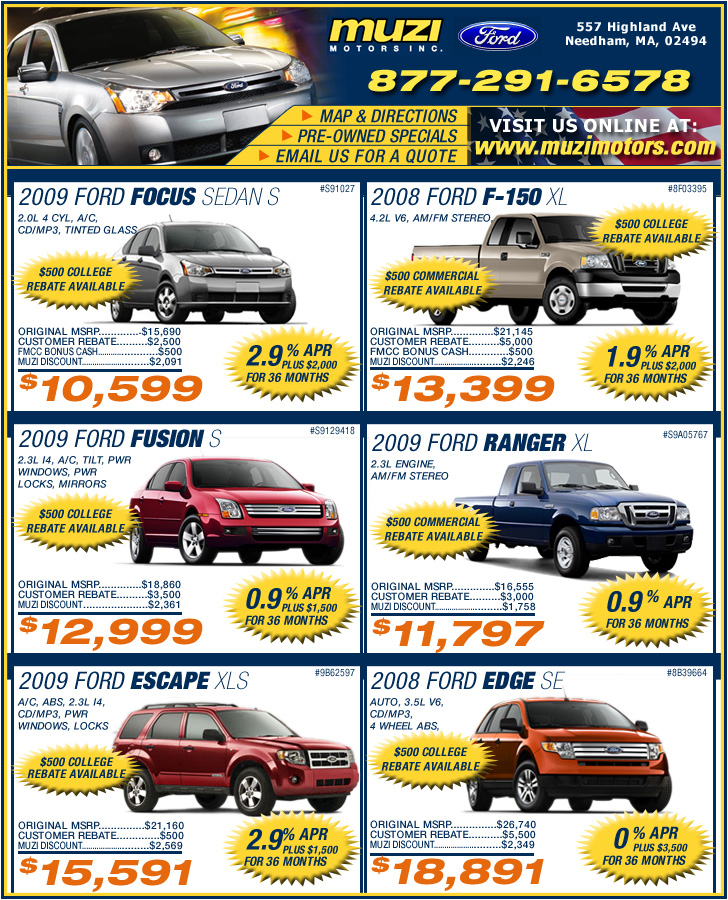 Ma Ford Dealers Muzi Ford : Boston Ford Dealers in Needham, MA