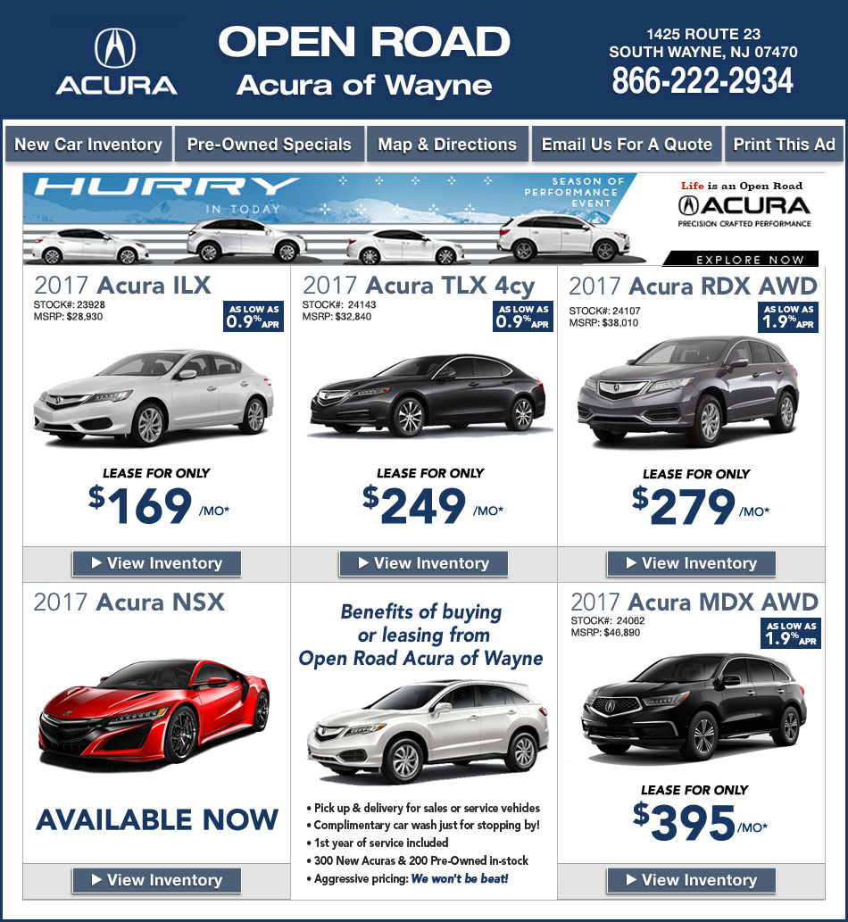 open road acura of wayne new jersey acura dealers. Black Bedroom Furniture Sets. Home Design Ideas