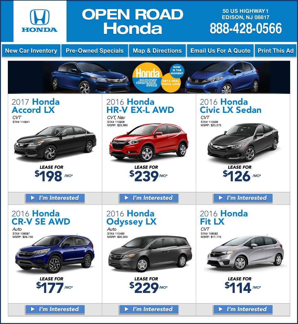New Jersey Acura Dealers: Open Road Honda North Edison