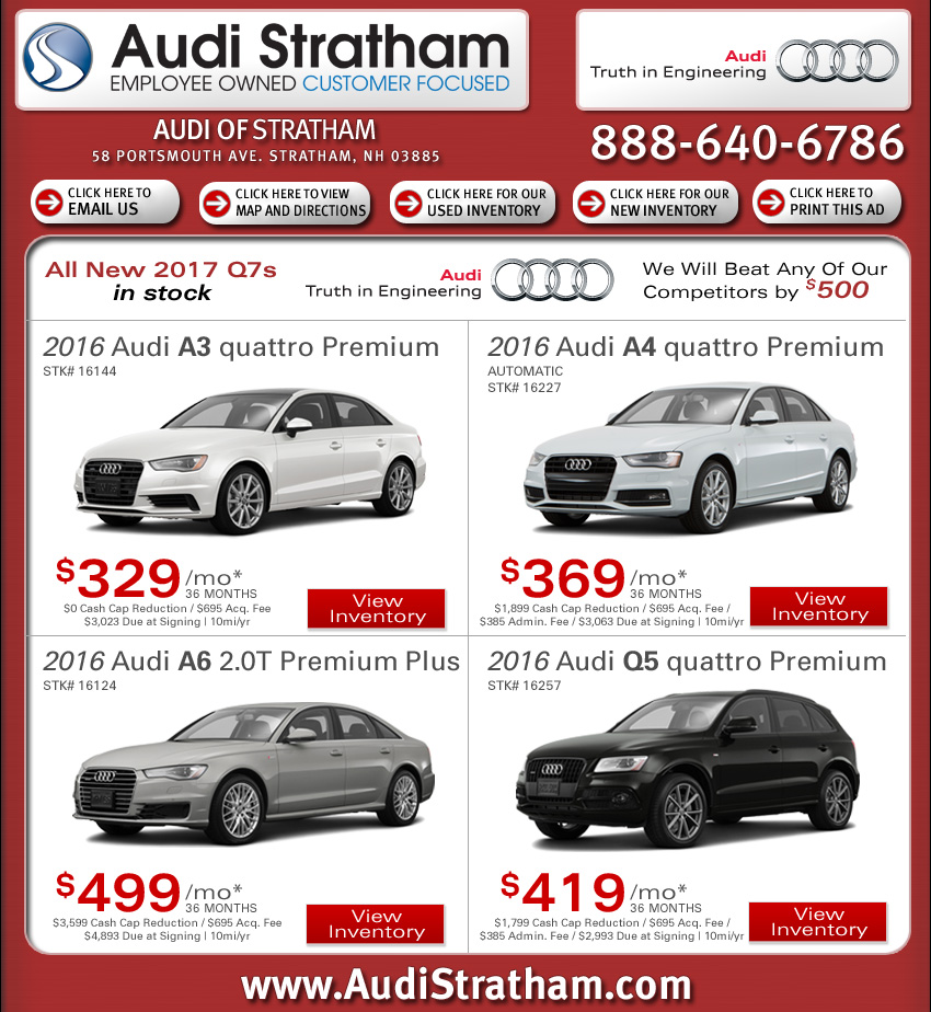 Audi Stratham Internet Specials Find New Car Deals Online