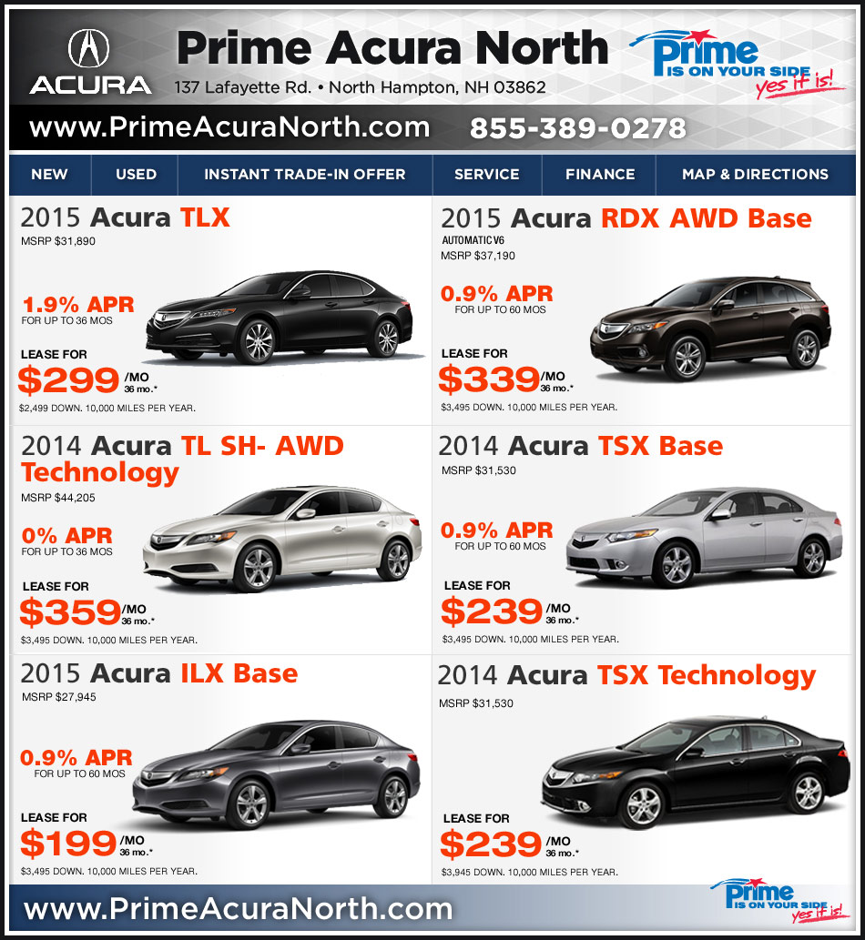 Prime Acura North In Northampton, NH