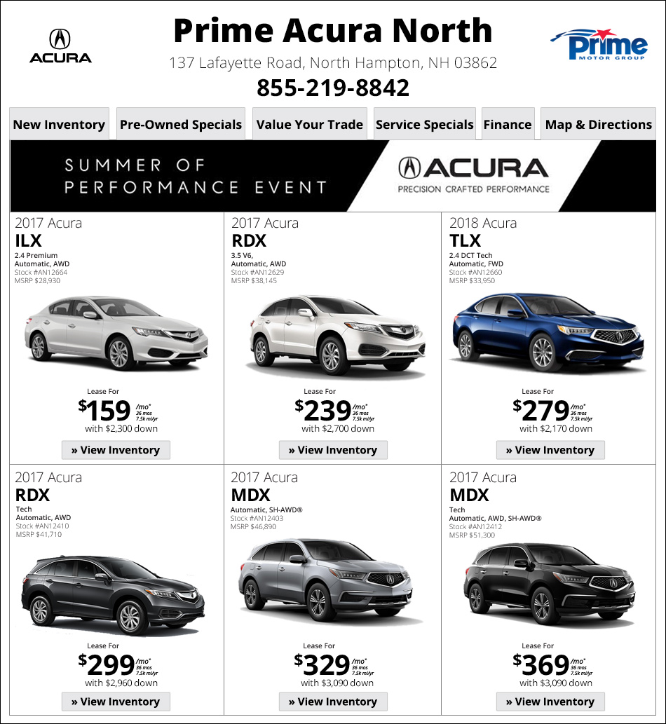 Acura Rdx Lease: New Hampshire Internet Deals. Shop Now