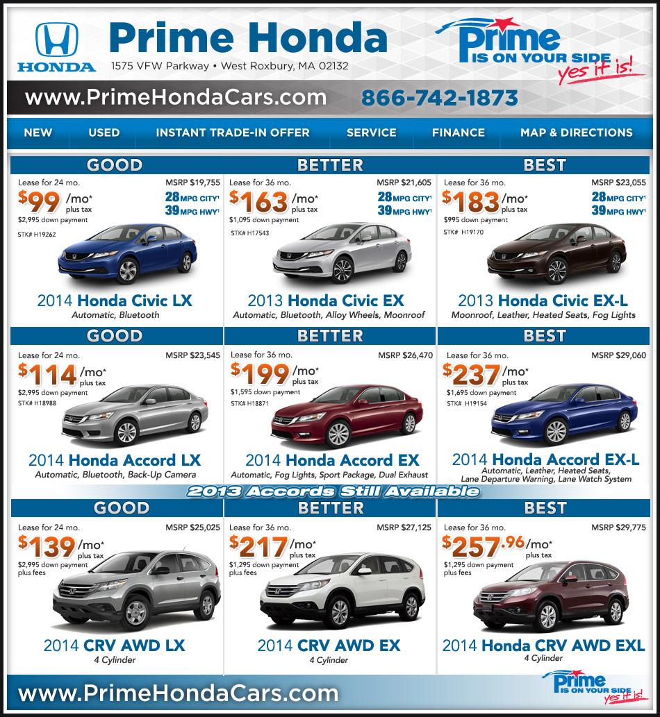 Acura Dealer Boston: Honda Dealer In Boston : Prime Honda